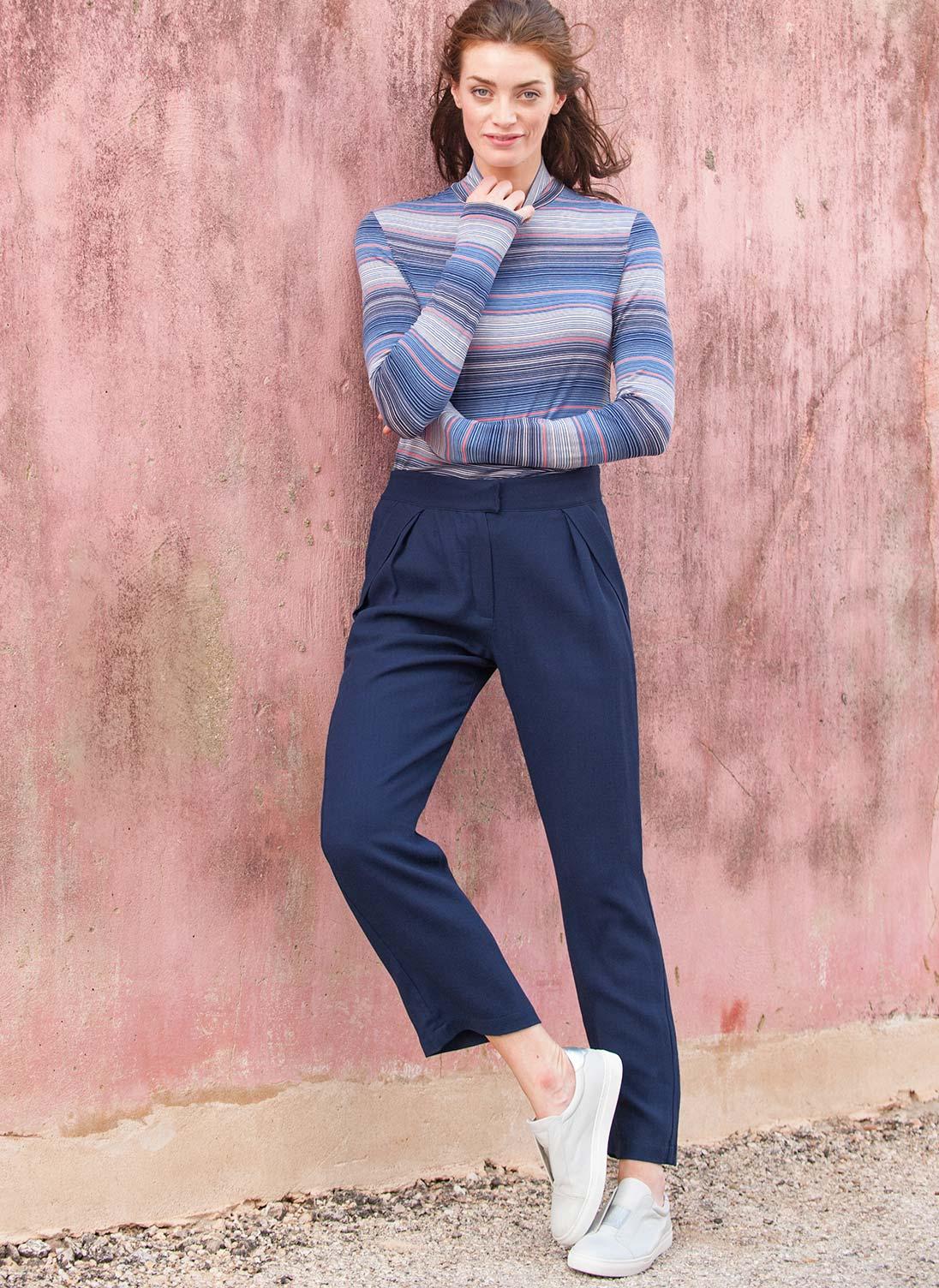 Crepe Trousers | Women