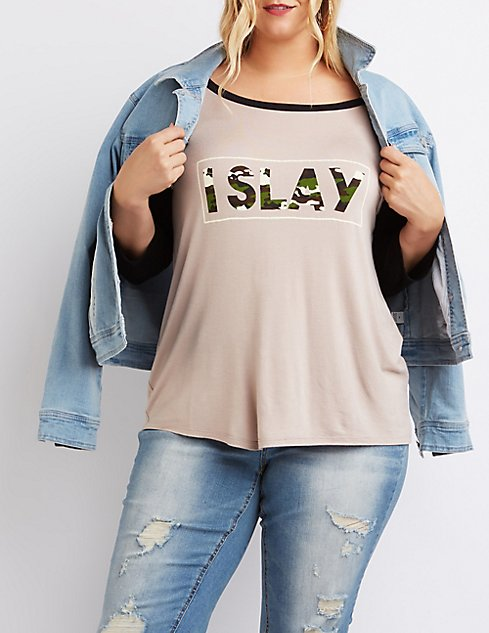 Plus Size Blouses and T-Shirts