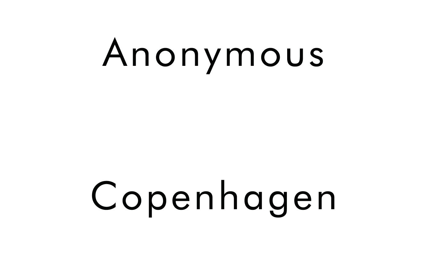 Anonymous Copenhagen Outlet | Women